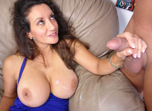 Busty milf stroking her neighbor who sneaks in while shes sleeping